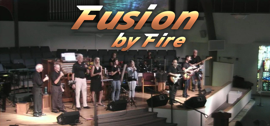 Fusion By Fire Contemporary Praise Band Logo and Photo