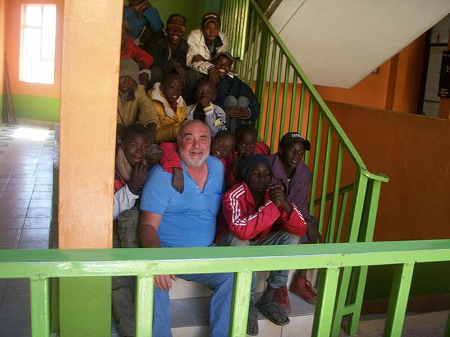 Dave and Kenyan boys