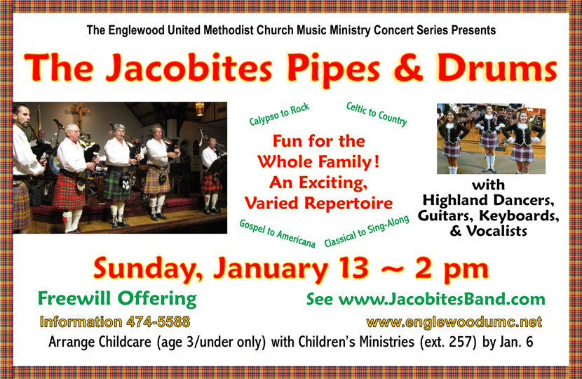 Jacobites Pipes & Drums Flyer