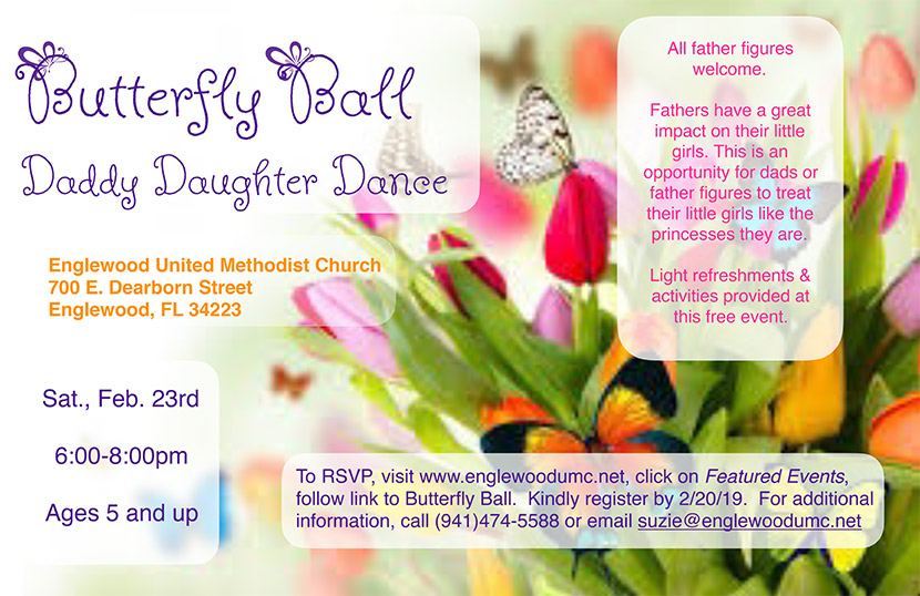 Butterfly Ball Daddy Daughter Dance Flyer