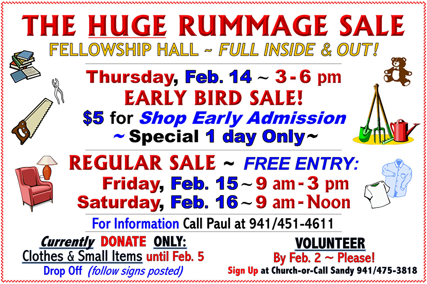 The Huge Rummage Sale Flyer