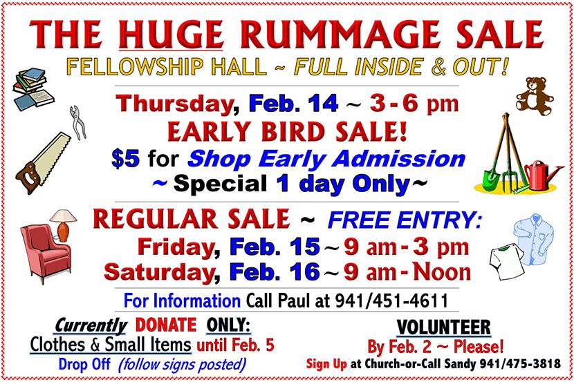 The Huge Rummage Sale Flyer