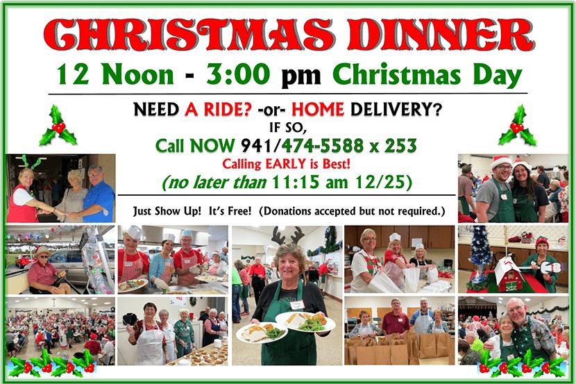 2019 Christmas Dinner Flyer