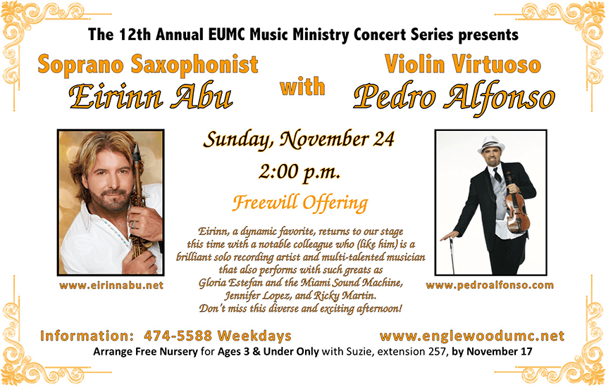 Eirinn Abu and Pedro Alfonso Concert Flyer