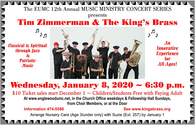 Tim Zimmerman and the Kings Brass flyer