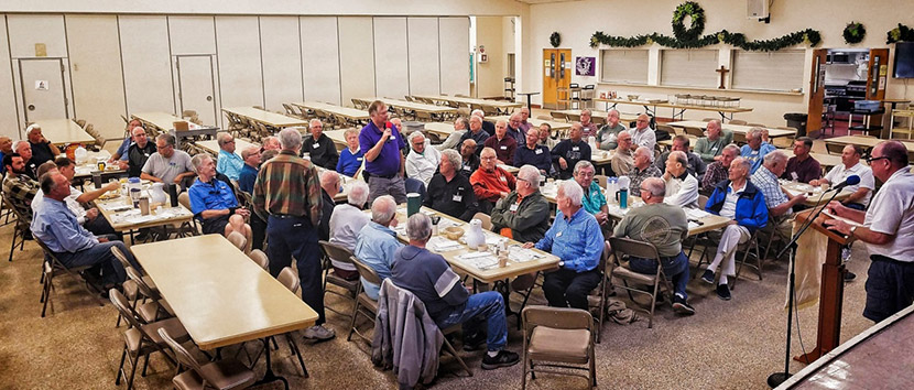 United Methodist Men's group in the EUMC Fellowship Hall